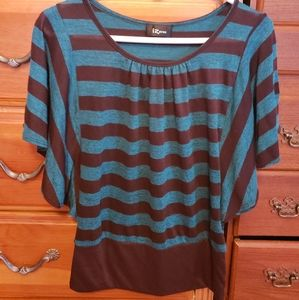 Green and brown striped shirt